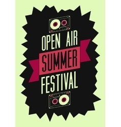 Summer festival open air typographic poster vector image vector image