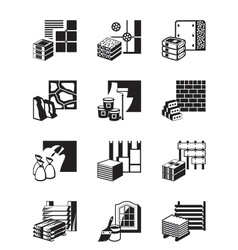 Construction materials and building details vector image