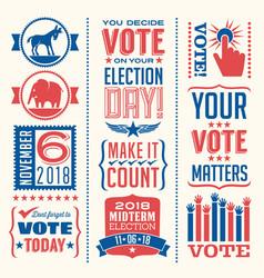 patriotic design elements for voting vector image