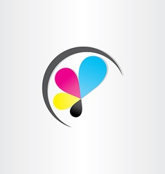printing icon printhouse ink symbol vector image