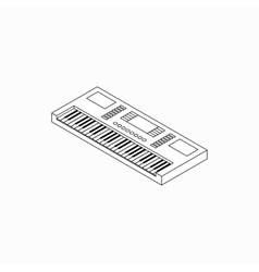 Synthesizer icon isometric 3d style vector image vector image