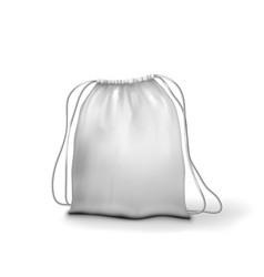 3d white clear full sport backpack bag vector image