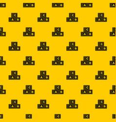 abc cubes pattern vector image