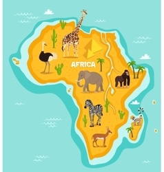 African animals wildlife vector
