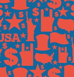 America symbols patriotic pattern USA national vector
