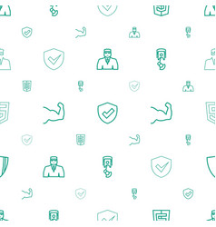 Arms icons pattern seamless white background vector