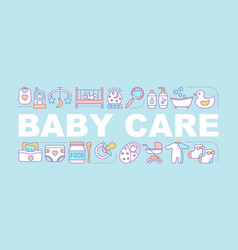 baby care word concepts banner vector image