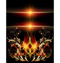 Background with star and golden ornament vector
