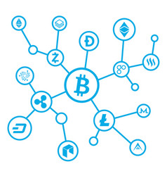 bitcoin net background vector image