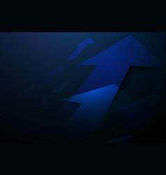 Blue abstract arrows sign digital hi technology vector
