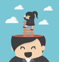 Business Woman Cartoons concepts Foresightprudentl vector