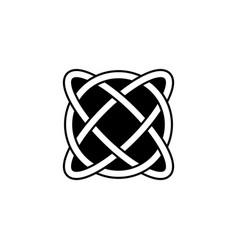 Celtic knot interlocked circles logo tattoo icon vector