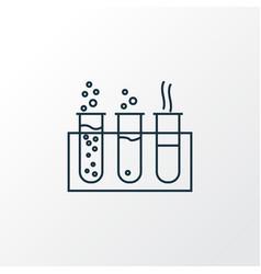 chemistry icon line symbol premium quality vector image