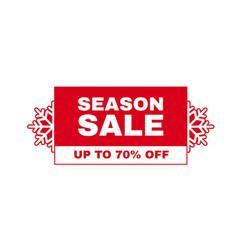 christmas sale label season offer sticker design vector image