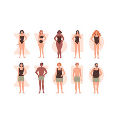 Collection people with different body shapes vector
