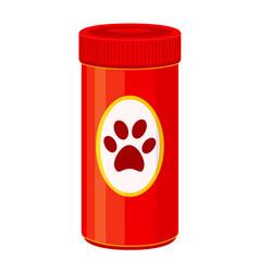 colorful cartoon pet vitamin jar vector image