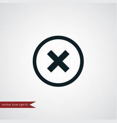 Cross icon simple vector