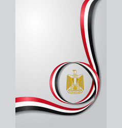Egyptian flag wavy background vector