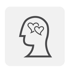 Emotion head icon vector