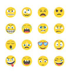 Expressions icons set vector