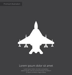 Fighter airplane premium icon vector