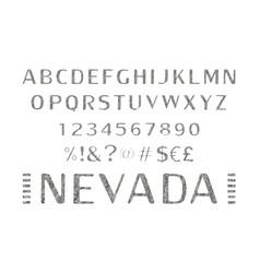 Font alphabet script typeface vector
