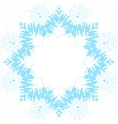 Frosty snowflake vector image