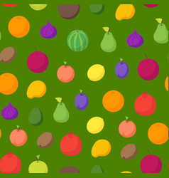 fruits and berries 3d seamless pattern background vector image