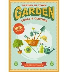 Garden Retro Poster vector