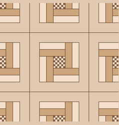 geometric seamless wooden parquet floor pattern vector image