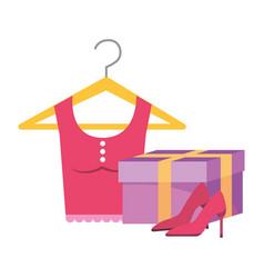 Gift heels and shirt design vector