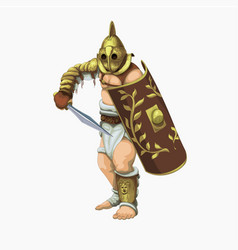 Gladiator secutor vector