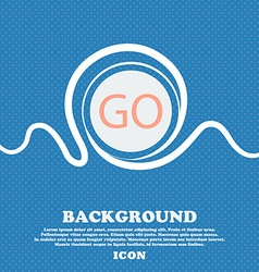 GO sign icon Blue and white abstract background vector