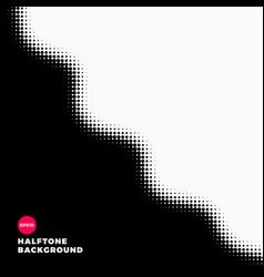 halftone dots background wave shape vector image
