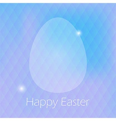 Happy Easter Greeting Card with Egg and blured vector