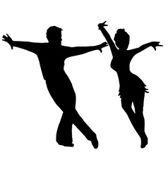 High quality pair dancing isolated on white vector