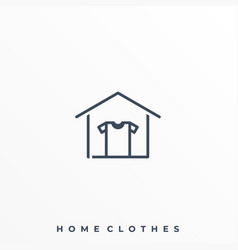 home clothes template vector image