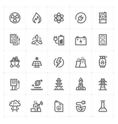 Icon set - energy and power vector