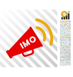 Imo megaphone alert flat icon with bonus vector
