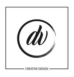 Initial letter dv logo template design vector