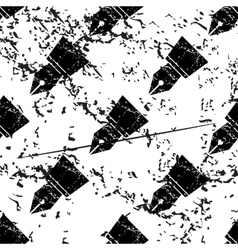 Ink pen pattern grunge monochrome vector