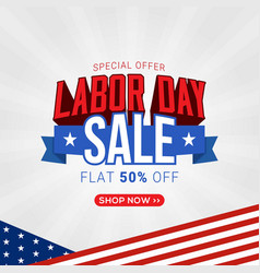 Labor day sale promotion banner template design vector
