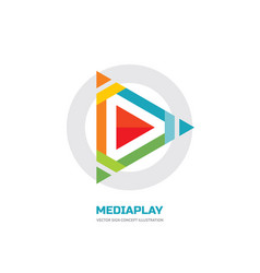 media play - logo template concept vector image
