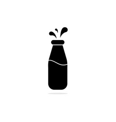 milk bottle icon concept for design vector image