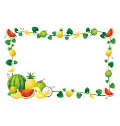 Mixed Fruits Border Frame vector image