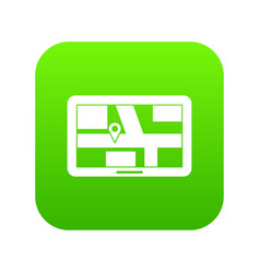 navigation icon digital green vector image