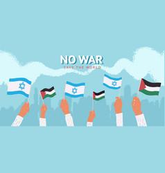 no war peaceful meeting vector image