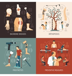 Orthopedics 2x2 Design Concept vector image