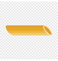 penne pasta icon realistic style vector image