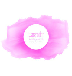 pink watercolor abstract stain texture background vector image vector image
